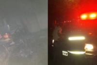 Un incendio consumió por completo un local de comidas en Pocito
