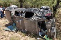 Una familia sanjuanina volcó en La Rioja y tuvieron que ser hospitalizados
