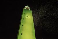 Capital se ilumina de verde por el juego responsable