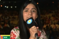 Ángeles Dominguez, la joven ganadora de Revelación pasó por el escenario San Juan
