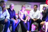 Francisco Guevara y Diputados nacionales pasaron por el stand de Dame Noticias