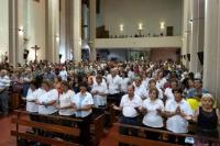 Cientos de sanjuaninos participaron de la misa y marcharon pidiendo por las dos vidas