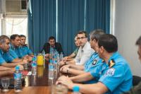 La Secretaría de Seguridad y la policía controlan los ingresos a San Juan