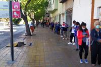 Otra vez: miles de sanjuaninos coparon el centro para pagar boletas