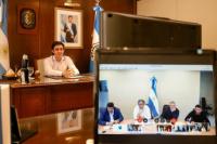 Por videoconferencia, Baistrocchi le pidió a Alberto Fernández la reactivación de la obra pública