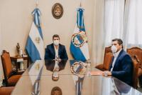 Uñac y Orrego mantuvieron una reunión en Casa de Gobierno