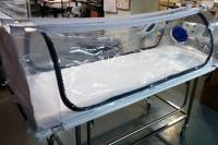 Coronavirus: la camilla de bioseguridad del Hospital Rawson, entre los mejores proyectos del país