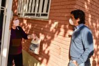 Baistrocchi recorrió barrios, obras y visitó el club Colón Junior