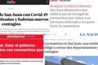 El 4º caso de coronavirus en la provincia es noticia nacional