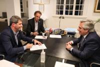 Uñac se reunió con Fernández para analizar la situación económica y sanitaria