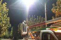 Continúan las obras de iluminación en distintos sectores de Angaco