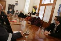 Uñac se reunió con empresarios del sector gastronómico local