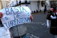 Cuarentena: marchas a favor y en contra en Argentina