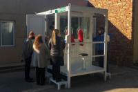 Ya trabajan las nuevas cabinas para hisopar a los grupos vulnerables
