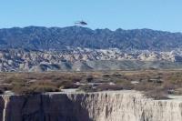 El helicóptero de la Provincia se suma a la búsqueda del hombre desaparecido en Iglesia