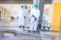 Capital preparó trabajos de desinfección ante la llegada del colectivo con tres sanjuaninos
