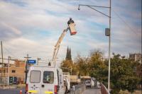 Comenzó la instalación de las cámaras de seguridad en la Avenida de Circunvalación