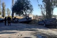 Cinco personas hospitalizadas tras un fuerte siniestro vial en Pocito