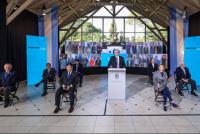Uñac participó del acto virtual que encabezó el presidente Alberto Fernández