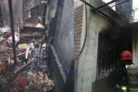 Terrible incendio en Villa del Carril: madre e hijo se salvaron de milagro