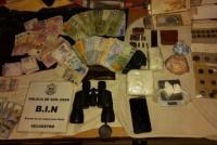 Tenía cocaína, dinero y armas: un joven fue detenido y estaría vinculado a un millonario robo