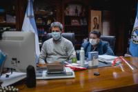 Uñac y Trotta, por videoconferencia, ultimaron detalles para el reinicio de clases presenciales en San Juan