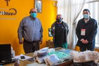Ullum recibió elementos de protección para el personal de salud