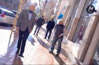Capital: autoridades supervisaron la renovación de veredas del microcentro