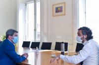 Uñac se reunió con Santiago Cafiero: analizaron reapertura de actividades y obras públicas en San Juan