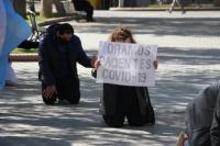 Rezaron frente a la Catedral para pedir por la salud de los argentinos