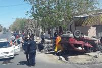 Tremendo vuelco en Rawson: 4 personas fueron hospitalizada