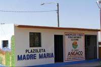 Angaco: finalizaron la oficina de mantenimiento de la plazoleta Madre María