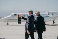 Estas son las primeras imágenes del presidente en San Juan