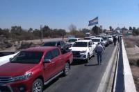 Productores, transportistas y autoconvocados continúan con los bloqueos limítrofes de San Luis