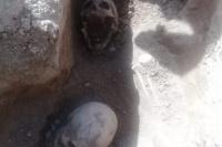 Obreros encontraron cráneos humanos en una obra de construcción