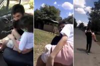 Indignante: No lo dejaron ingresar en auto y tuvo que cargar a su hija que es paciente oncológica por 5 kilómetros.