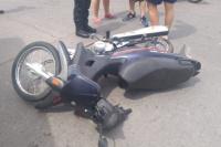 Fuerte choque en Pocito: un chico de 15 años terminó con fractura expuesta