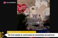 """Desde Nápoles: """"Maradona nos dio dignidad"""""""