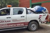 Durante la noche del lunes comenzaron a asistir a familias afectadas por las lluvias
