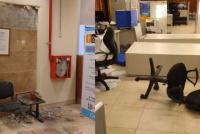 Fotos: el fuerte sismo provocó diferentes destrozos en el Centro Cívico
