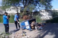 Un contenedor aplastó a un nene de 5 años y pelea por su vida