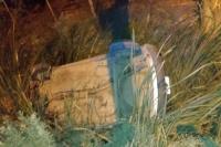 Siniestro Vial: un joven volcó en un auto al esquivar un perro
