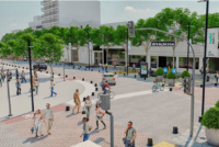 Adoquinarán las calles que rodean la plaza 25 de Mayo