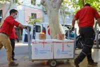 Llegaron a San Juan las primeras 9 mil dosis de la vacuna producida en India
