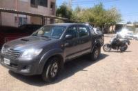 La camioneta que fue robada en Desamparados, apareció abandonada en Rawson