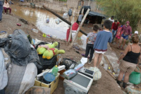 Al menos 218 personas tuvieron que abandonar sus viviendas por las intensas lluvias