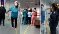 ¡Insólito!, una policía esposó a una enfermera que debía atender un paciente infartado