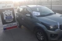 En Chimbas, secuestran un auto que había sido robado en Mendoza: un hombre quedó detenido