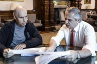 Alberto Fernández y Horacio Rodríguez Larreta se reúnen por las clases presenciales