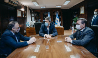 Matías Kuflas llegó a San Juan y anunció que crearán más de 1000 puestos de trabajo